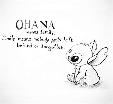 ohana stitch tattoo lilo and stitch ohana quote