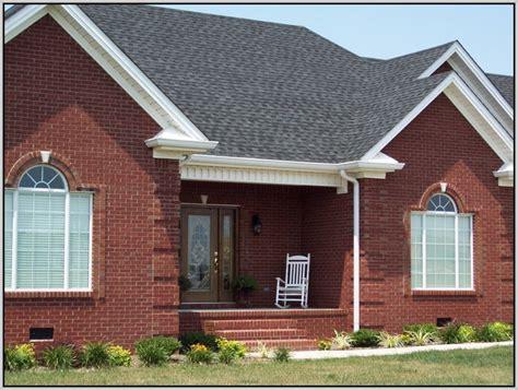 exterior house colors with orange brick home design ideas