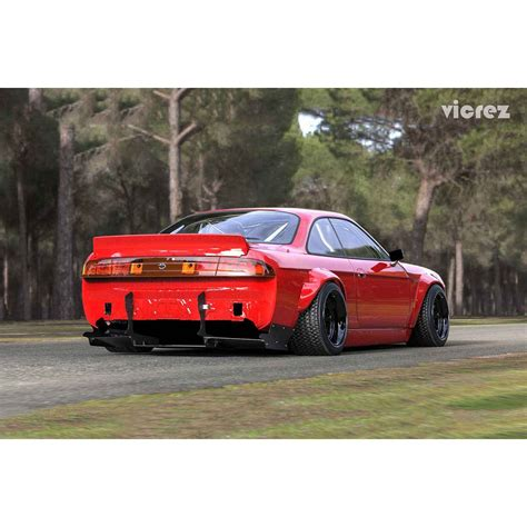 nissan 240sx rocket bunny kit vicrez nissan 240sx 1989 1994 rocket bunny duck rear