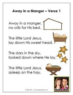 printable lyrics for away in a manger christmas songs for children chapel lessons crafts
