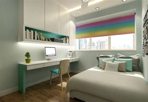 Teenage Bedroom Color Schemes hdb interior design singapore top hdb renovation contractor