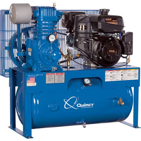 free shipping quincy qp 7 5 pressure lubricated reciprocating air compressor 14 hp kohler