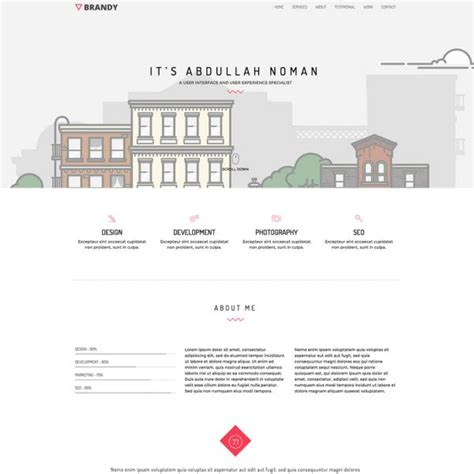 bootstrap portfolio template 21 professional html css resume templates for free
