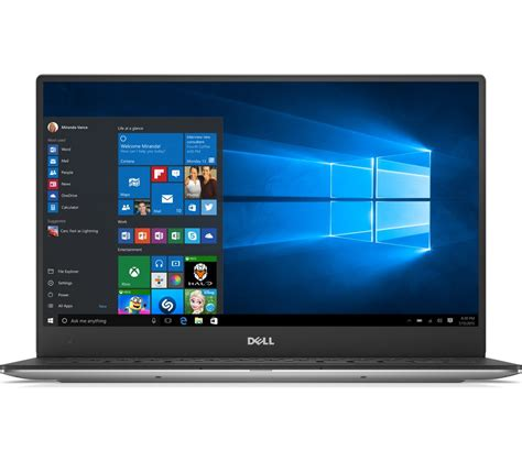 Laptop Dell Xps 13 Terbaru buy dell xps 13 9360 13 3 quot touchscreen laptop silver