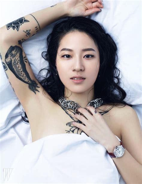 korean girl tattoo skawngur 타투 해주는 여자 editorial by w korea other