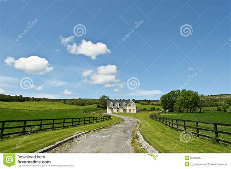 Country Farm House Plans Countryside Farm House Landscape Stock Image Image 25209637