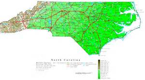 map or carolina carolina contour map