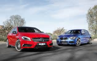2013 bmw m135i vs mercedes a45 amg comparison test by