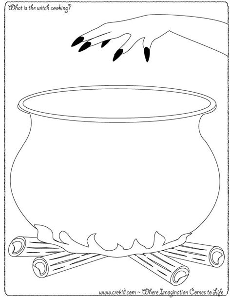 witch cauldron coloring page halloween what is the witch cooking crekid com