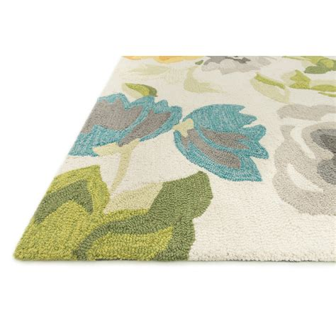 floral rugs loloi rugs white floral area rug reviews wayfair