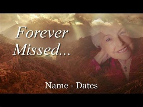 memorial template complete slideshow presentation for