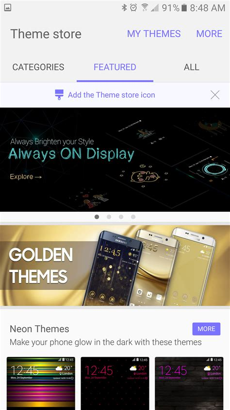 android theme store how to use themes on the galaxy s7 and s7 edge