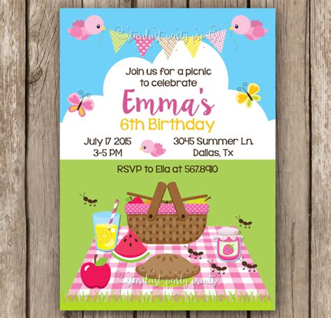 10 Picnic Invitation Templates Sle Templates Free Picnic Invitation Template