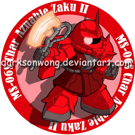 Sticker Logo Ms 06s Zaku Ii Char Aznable Gundam Series ms 06s char aznable zaku ii by darksonwong on deviantart