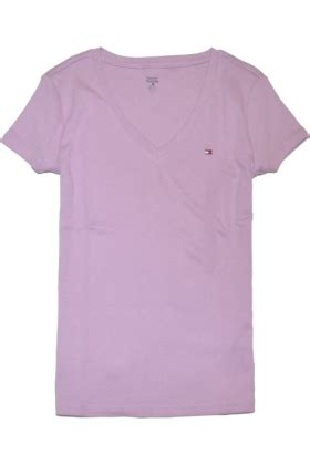 light purple t shirt hilfiger t shirts hilfiger slim fit v neck