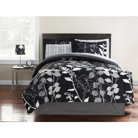 walmart black comforter hometrends orkasi bed in a bag bedding set reversible