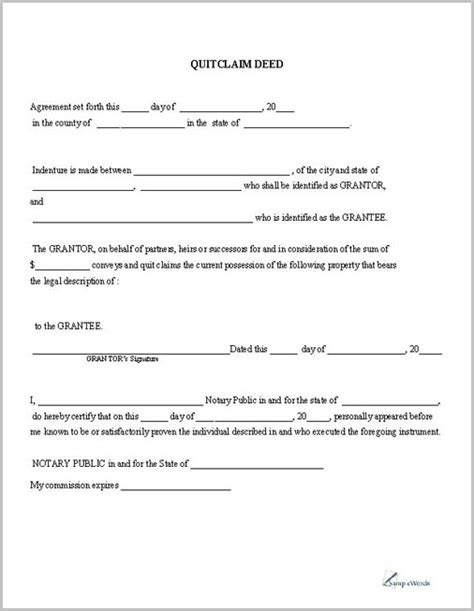 printable blank quit claim deed form claim deed blank quit form best free home design