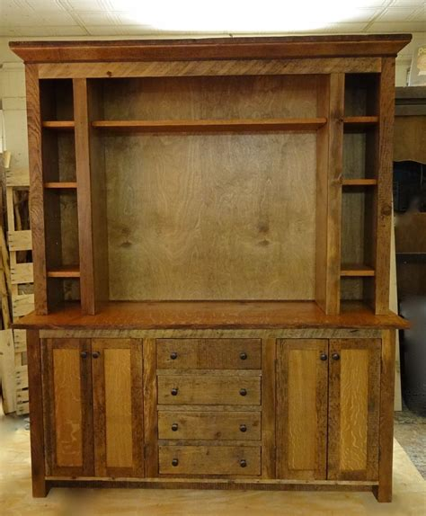How To Build Rustic Cabinets Hand Made Reclaimed Barn Wood Entertainment Center By