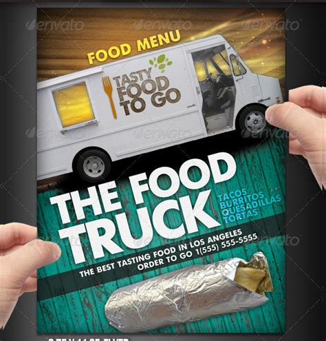 food truck menu template 23 menu flyer templates free premium
