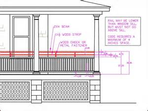 banister height porch railing height building code vs curb appeal