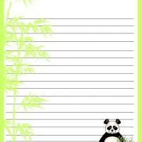 printable panda stationery free fall stationary borders