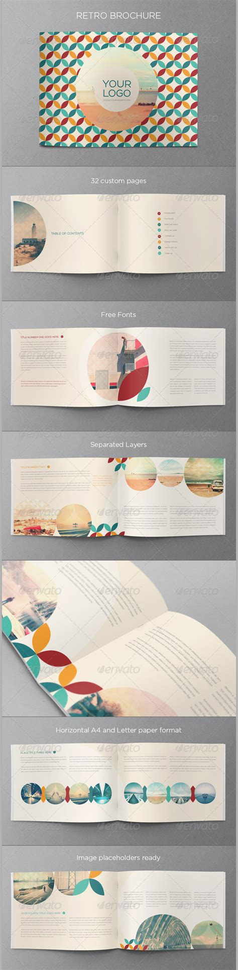 retro brochure template 35 best retro brochure templates free premium