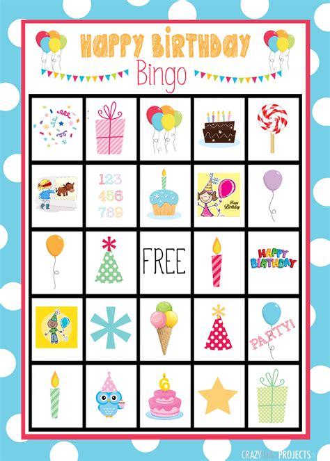 Printable Birthday Bingo Cards | birthday bingo cards crazy little projects