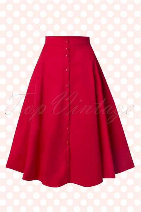 what is swinging skirts 50s nani swing skirt in red
