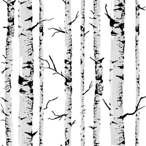 black and white tree pattern birke tapete kaufen billigbirke tapete partien aus china