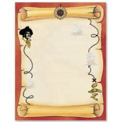 pirate paper template stationery stationary border papers papers paperframes