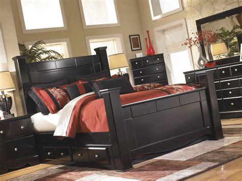 Shay King Bedroom Set by Shay Black B271 4 Pc King Poster Bedroom Set