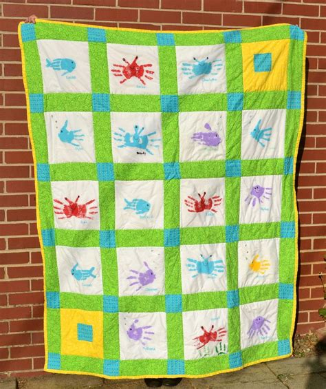 Handprint Quilt by Prints Quilt And On