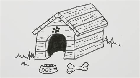 how to draw a dog house how to draw a dog house dog hutch dog kennel cartoon comic doodle 13 youtube