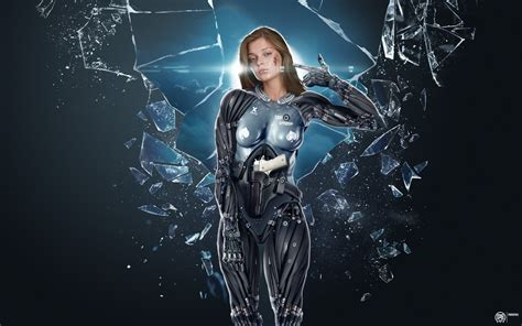 film fantasy in 3d cyborg wallpaper