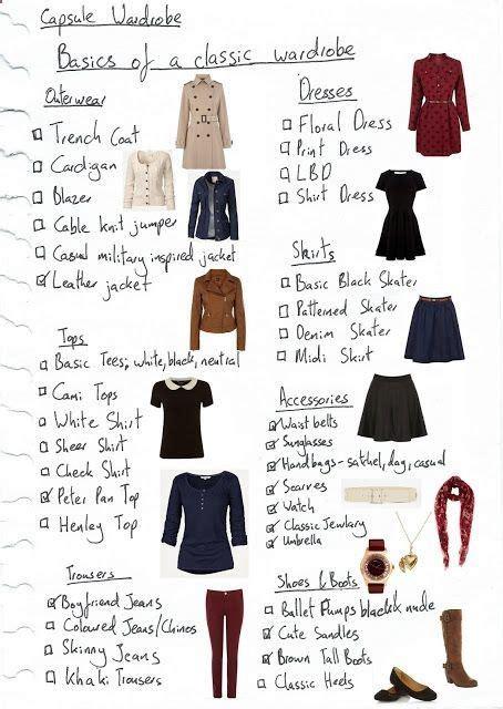 Capsule Wardrobe Checklist by 25 Best Ideas About Capsule Wardrobe Essentials On