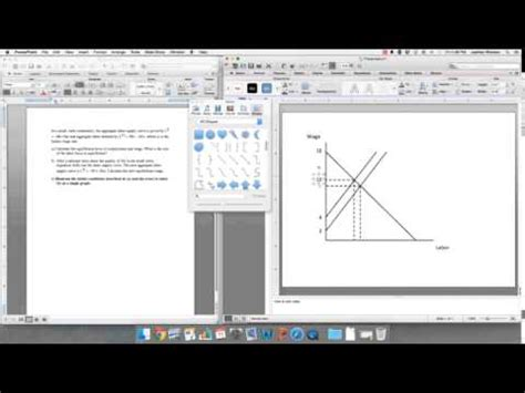 how to draw economic graphs how to draw graphs for economics course using powerpoint