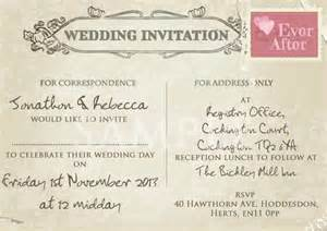 personalised vintage style wedding postcard invitations ebay uk wedding invitations