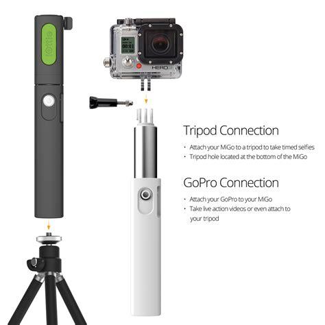 Gopro 5 Plus iottie migo selfie stick gopro pole for iphone 6s plus 5