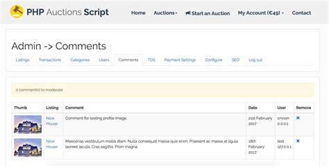 Php Auctions Script By Crivion Codecanyon Php Auction Template