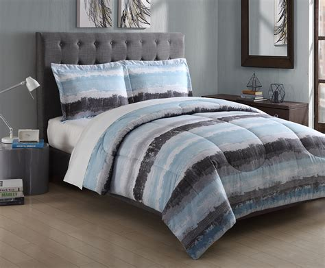 Microfiber Bedding Sets Essential Home Hayden Stripe Microfiber Comforter Set Home Bed Bath Bedding Comforters