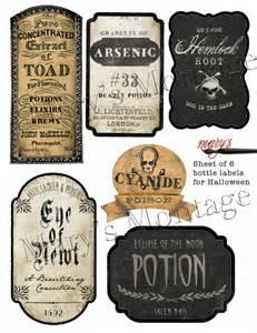 harry potter potion labels templates bottle labels print