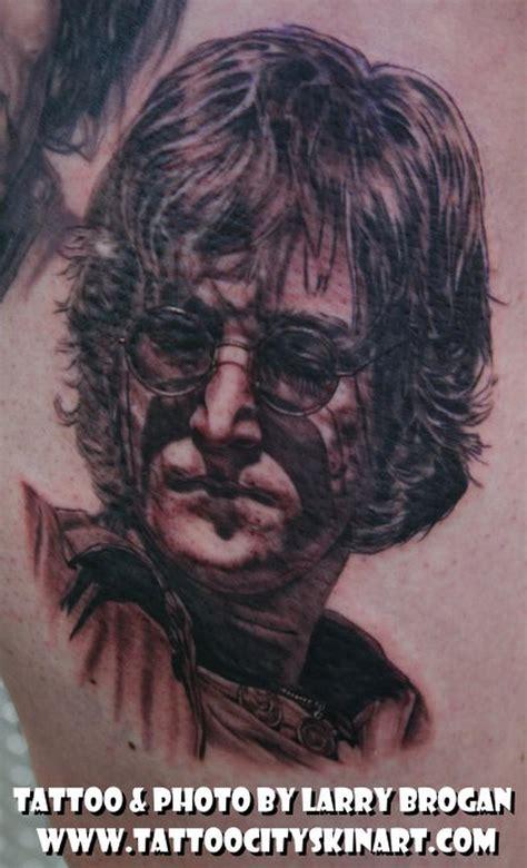 john tattoo lennon portrait by larry brogan tattoos