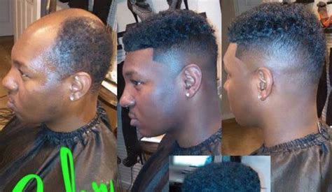 man weave fade stylists and barbers are installing man weaves for men