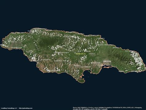 jamaica satellite map jamaica satellite maps leaddog consulting