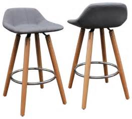 counter and bar stools upholstered counter stools set of 2 wood and gray 26