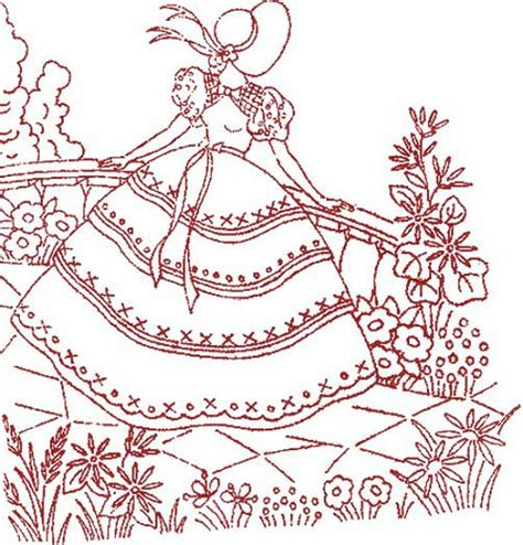 embroidery design ladies vintage ladies embroidery a gallery on flickr