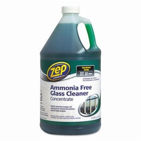 zep commercial ammonia free glass cleaner agradable scent 1 gal bottle zpezu1052128