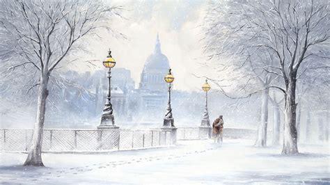winter in the city wallpaper wallpapersafari