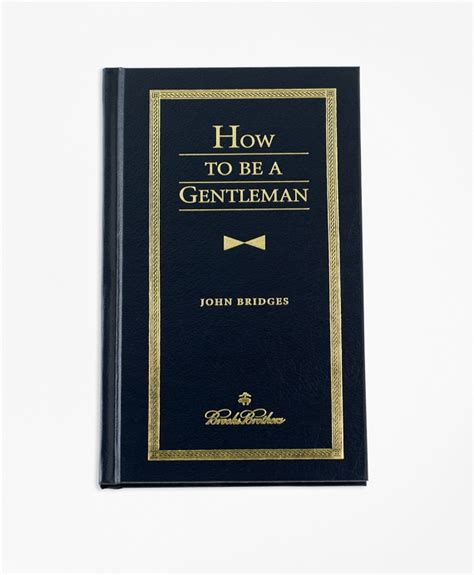and gentlemen books how to be a gentleman book brothers