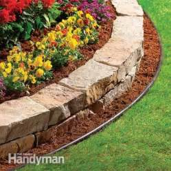 Inexpensive flower bed edging a raised border adds depth and
